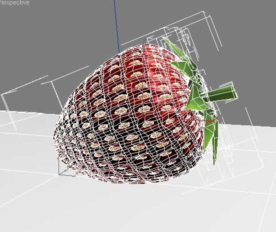 fragola royalty-free 3d model - Preview no. 3