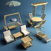 Garden furniture bundle 3d model