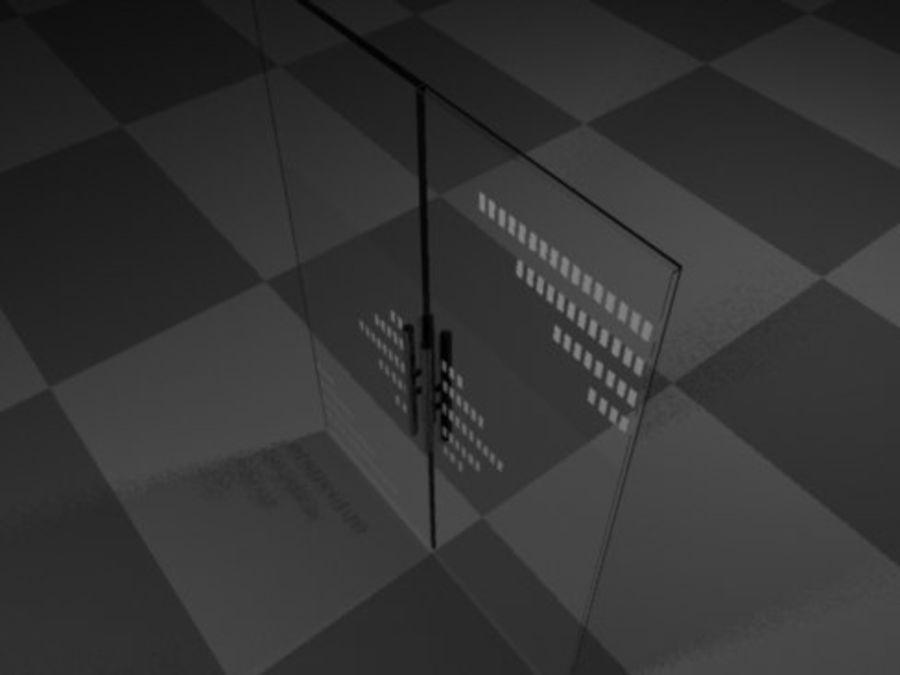 Glass Door 28 royalty-free 3d model - Preview no. 2