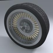 Muscle Car wheel 3d model