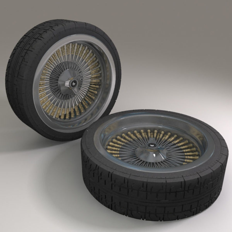 Muscle Car wheel royalty-free 3d model - Preview no. 2