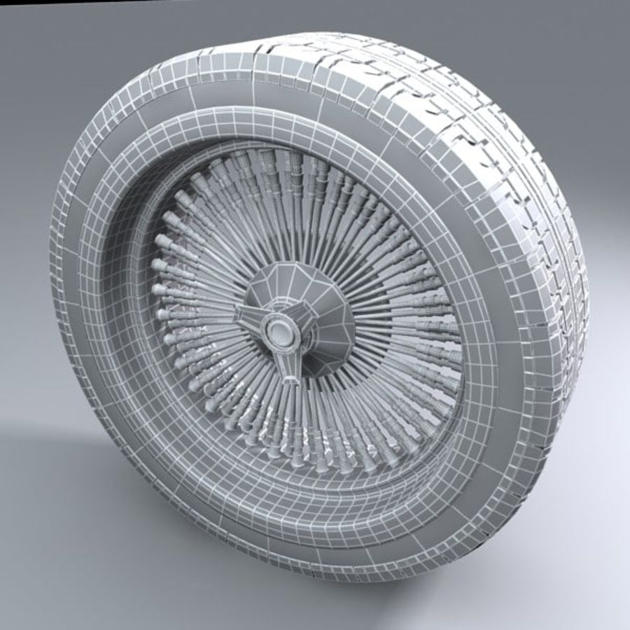 Muscle Car wheel royalty-free 3d model - Preview no. 4