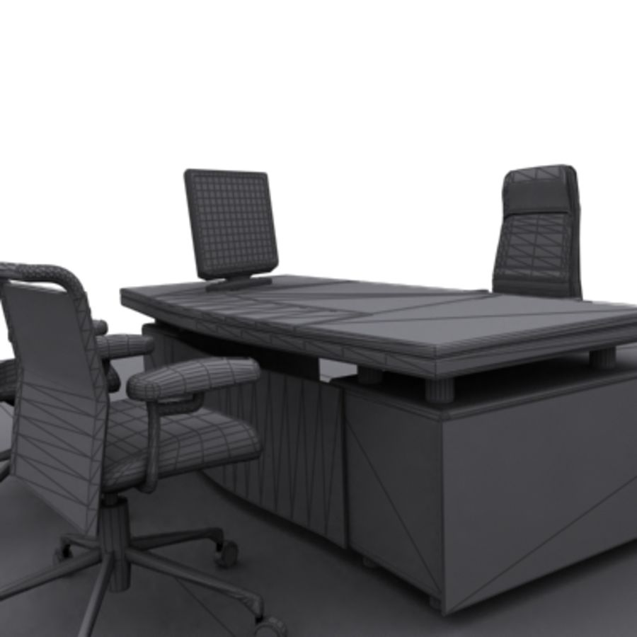 office furniture royalty-free 3d model - Preview no. 6