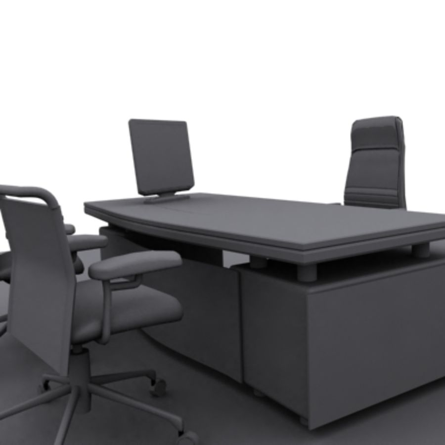 office furniture royalty-free 3d model - Preview no. 4