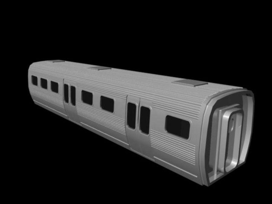 carro do metrô royalty-free 3d model - Preview no. 1