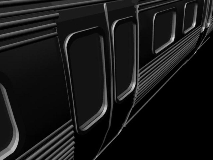 carro do metrô royalty-free 3d model - Preview no. 3