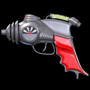 Pistola de rayos atómicos modelo 3d