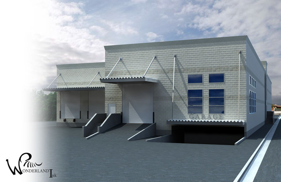 Architectural Exterior 3 royalty-free 3d model - Preview no. 2