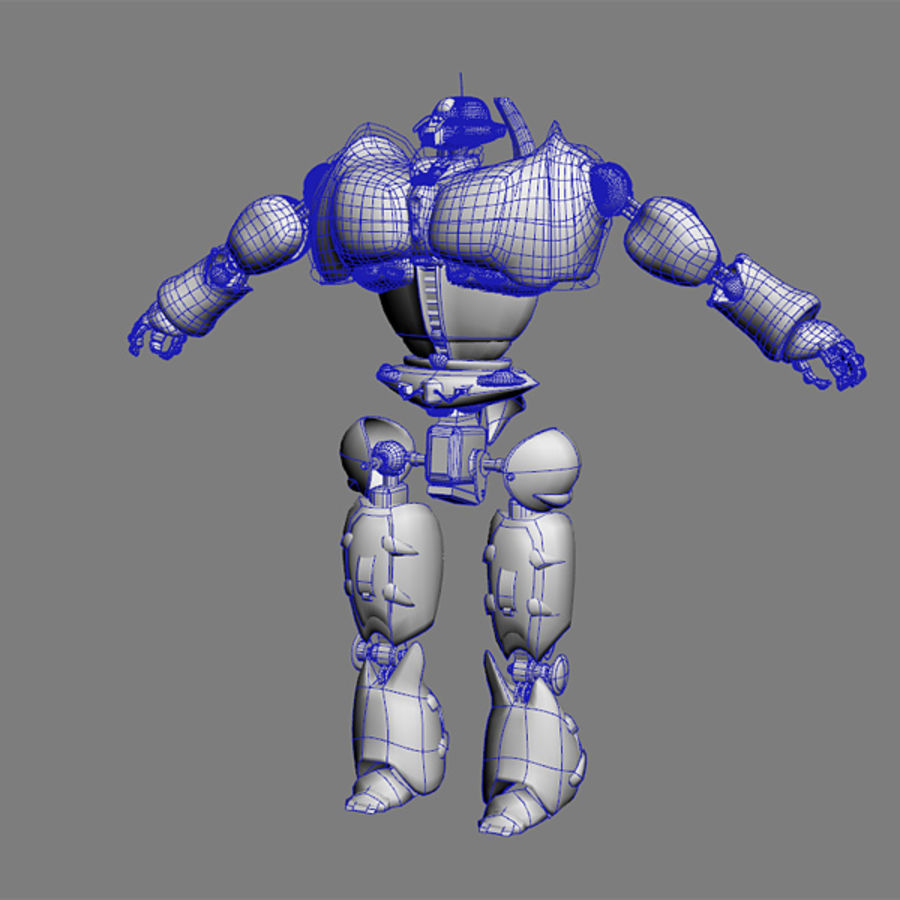 Robot Bot Rigged royalty-free 3d model - Preview no. 8