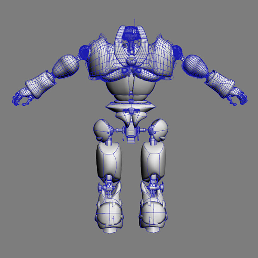 Robot Bot Rigged royalty-free 3d model - Preview no. 7