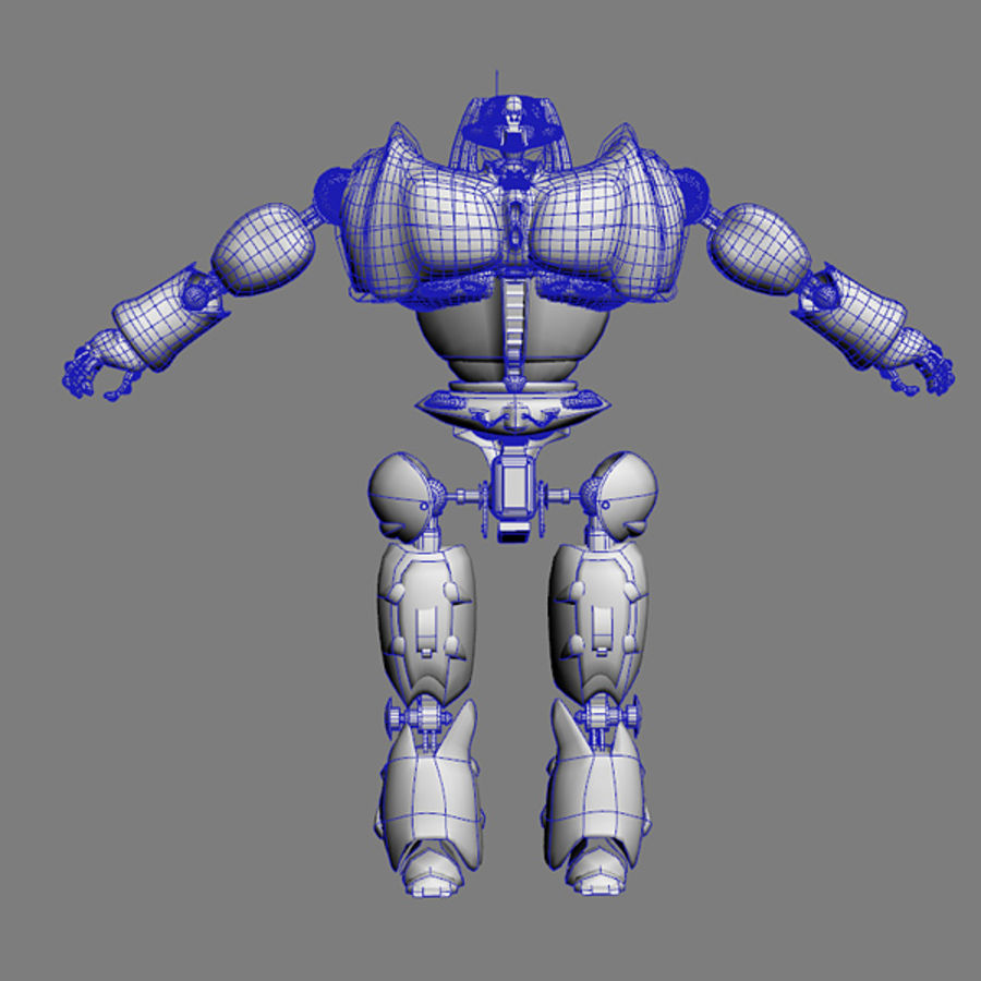 Robot Bot Rigged royalty-free 3d model - Preview no. 9