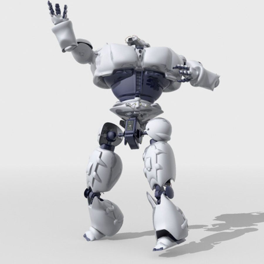 Robot Bot Rigged royalty-free 3d model - Preview no. 5