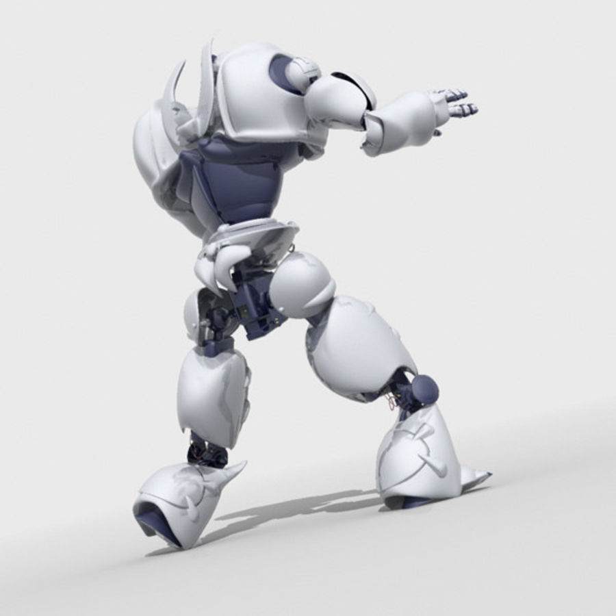 Robot Bot Rigged royalty-free 3d model - Preview no. 6