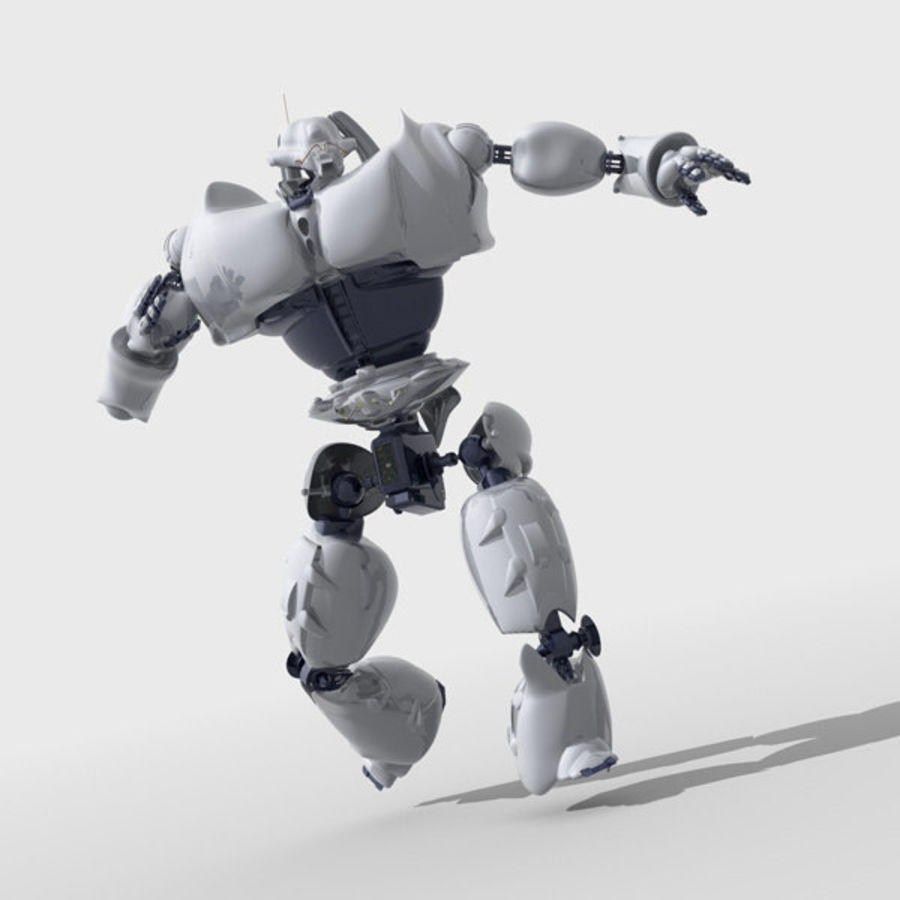 Robot Bot Rigged royalty-free 3d model - Preview no. 3