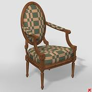 Chaise old fashioned012_max 3d model