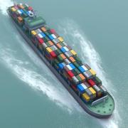 Navio porta-contentores VMLD 3d model