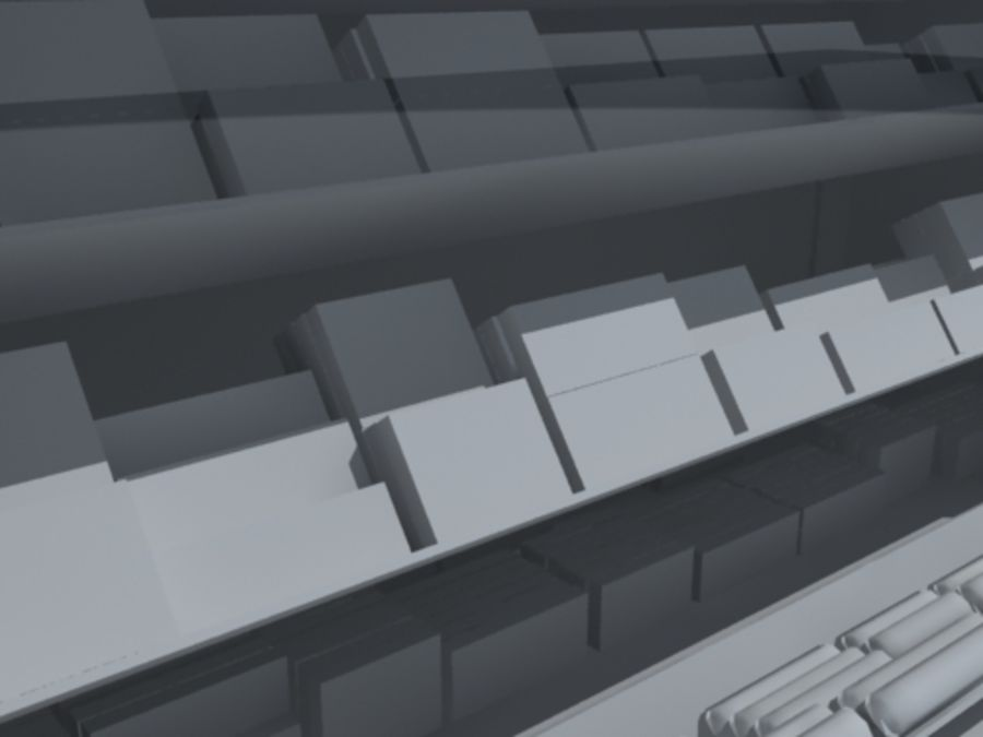 candy_counter (3ds) .3DS royalty-free 3d model - Preview no. 2