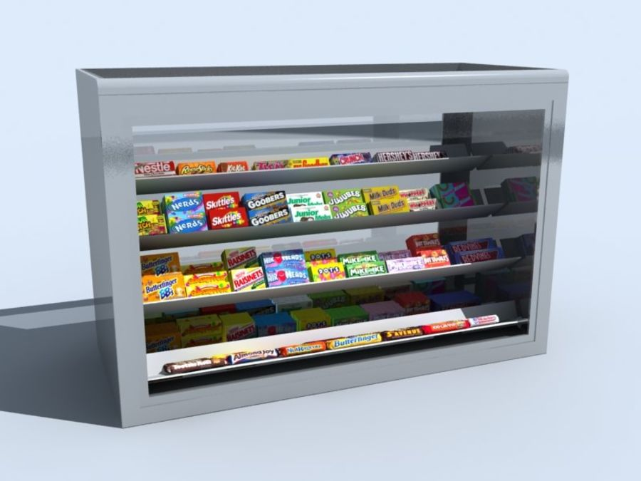 candy_counter (3ds) .3DS royalty-free 3d model - Preview no. 1