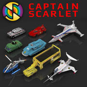 Collection de véhicules Captain Scarlet 3d model