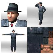 Man in hat 3d model