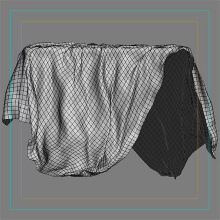 Cloth cover royalty-free 3d model - Preview no. 6
