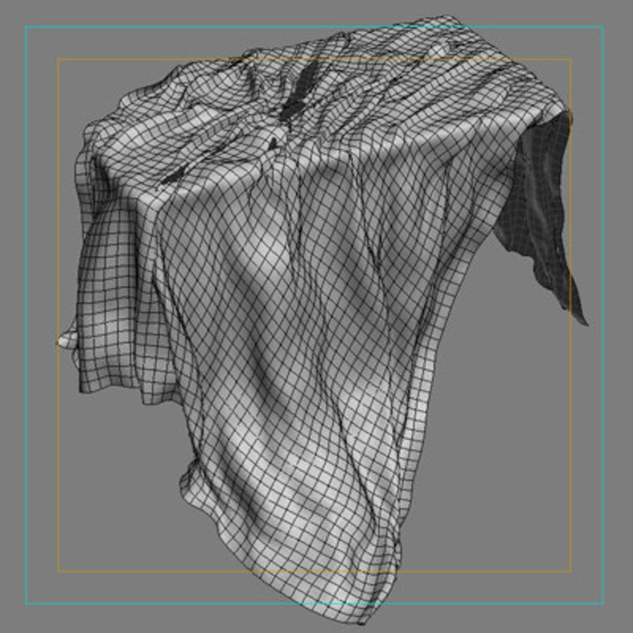 Cloth cover royalty-free 3d model - Preview no. 7