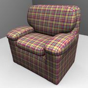 Krzesło w kratę 3d model