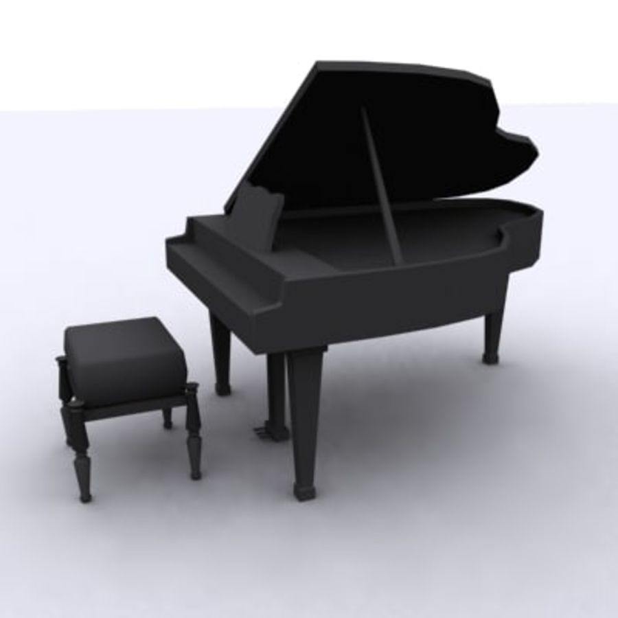 グランドピアノ royalty-free 3d model - Preview no. 2