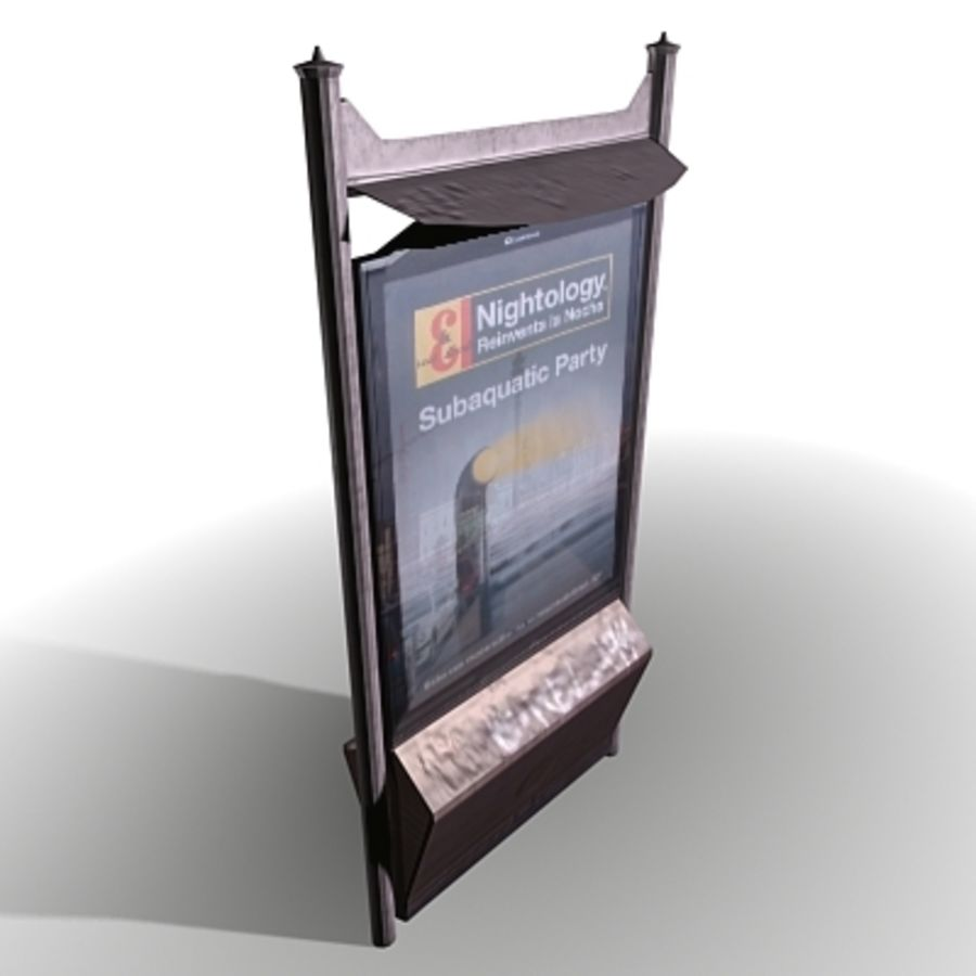 ADVERT BANNER STAND 3D Model $49 -  obj  max  3ds - Free3D