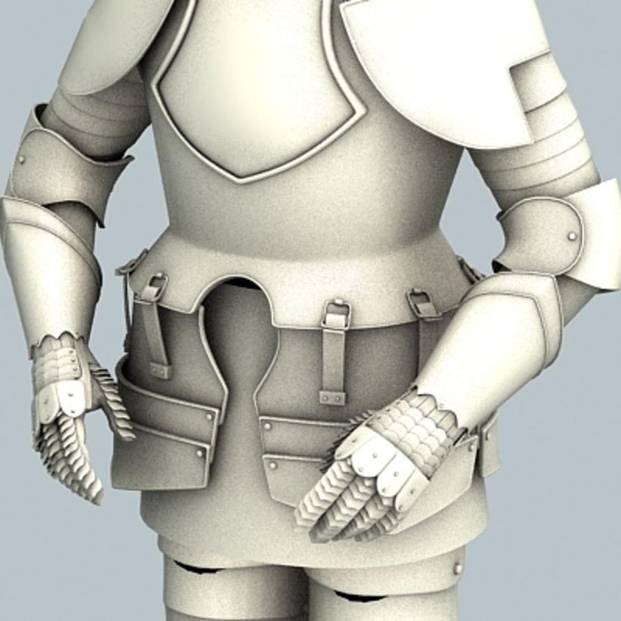 Armadura sem materiais royalty-free 3d model - Preview no. 1