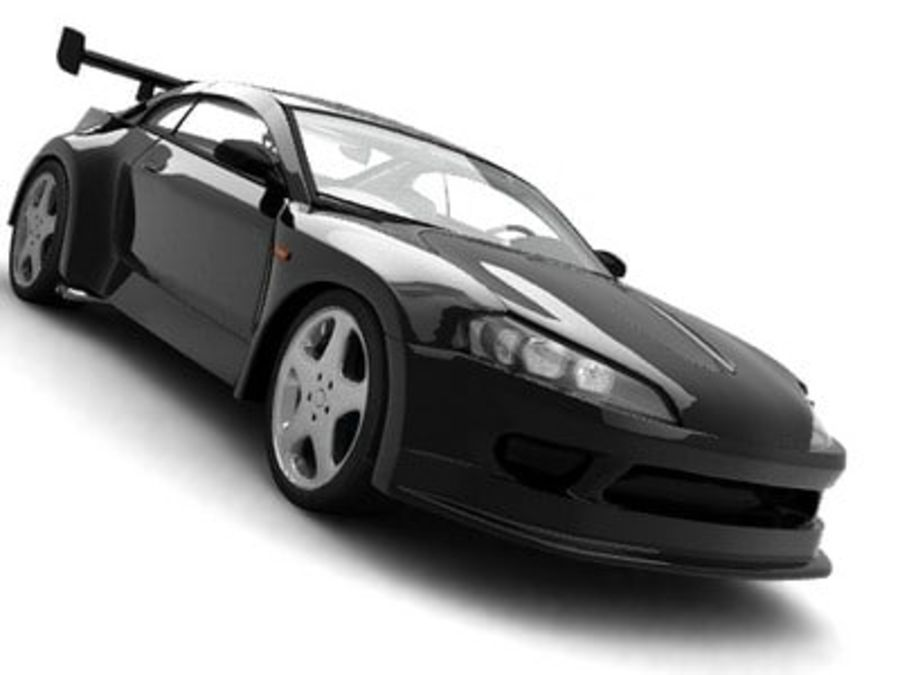 Generic car royalty-free 3d model - Preview no. 5