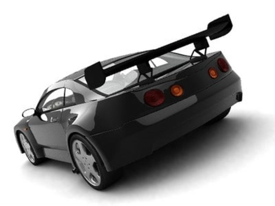 Generic car royalty-free 3d model - Preview no. 3