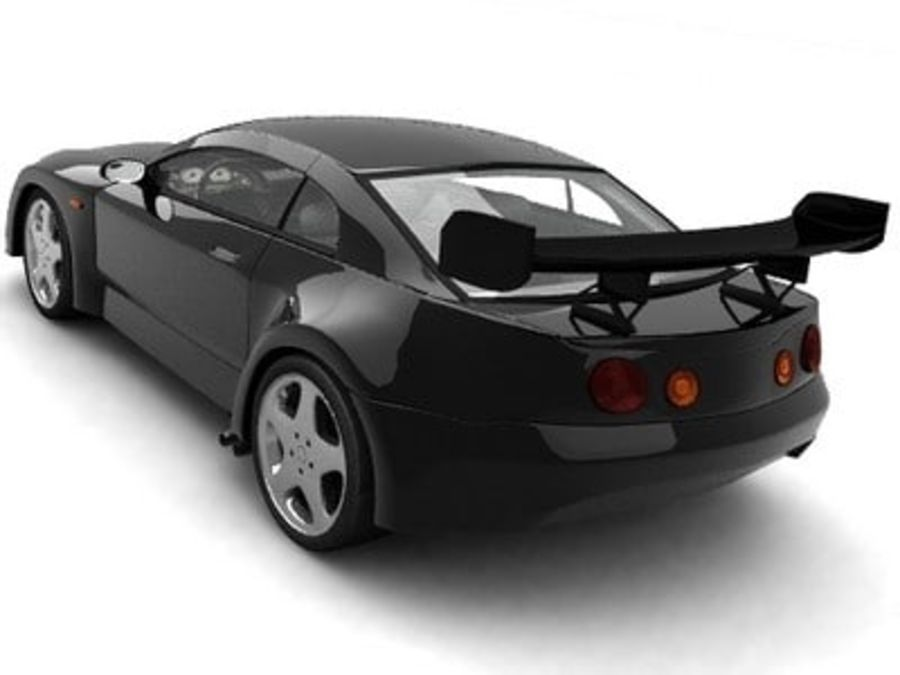 Generic car royalty-free 3d model - Preview no. 4