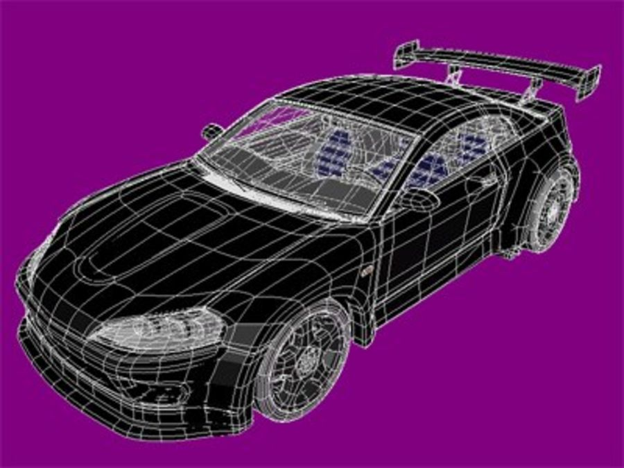 Generic car royalty-free 3d model - Preview no. 7
