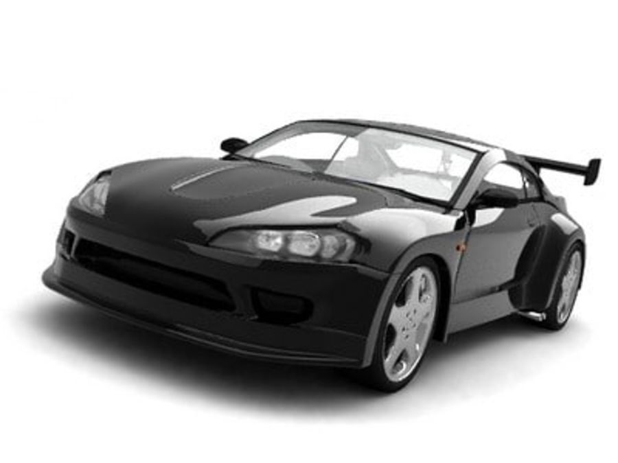 Generic car royalty-free 3d model - Preview no. 1