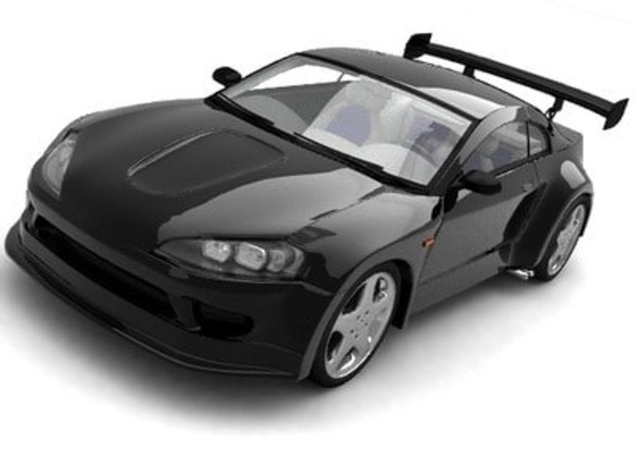 Generic car royalty-free 3d model - Preview no. 2