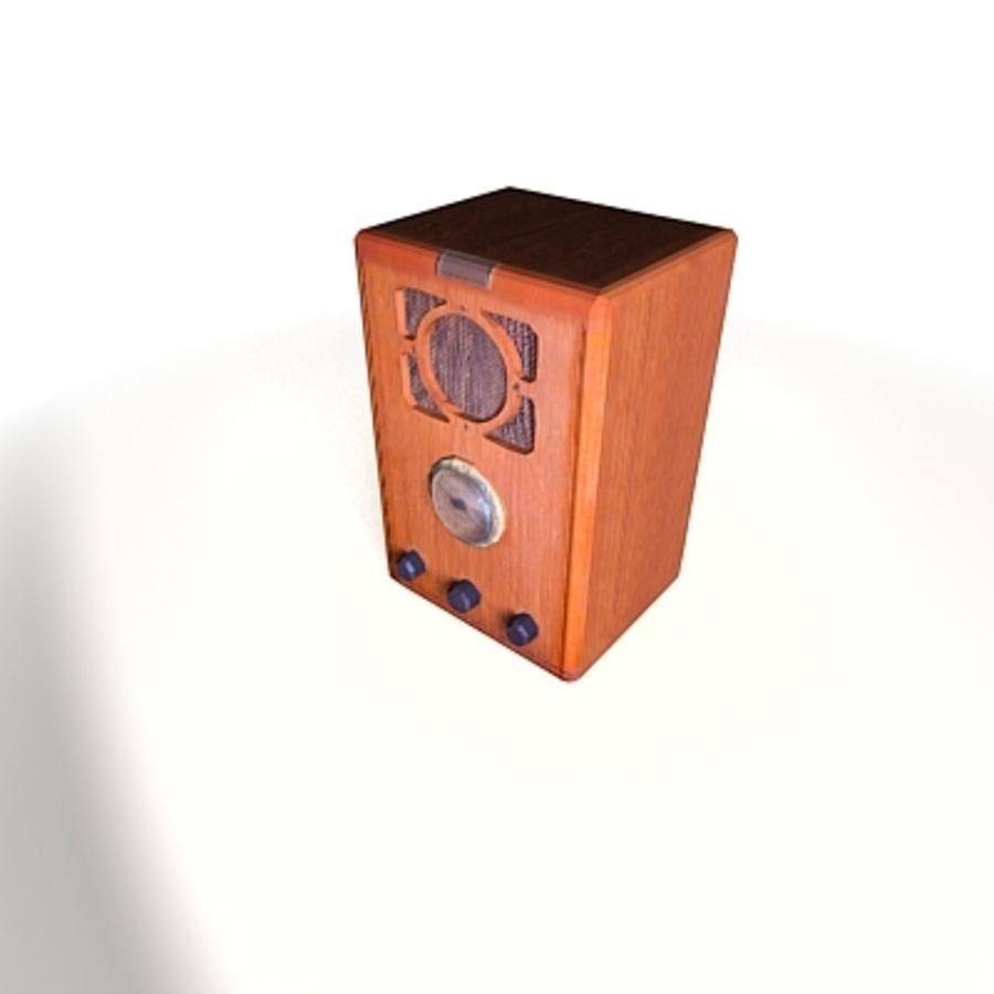 RADIO VIEJA EN TIEMPO REAL royalty-free modelo 3d - Preview no. 18