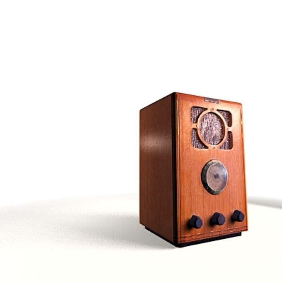 RADIO VIEJA EN TIEMPO REAL royalty-free modelo 3d - Preview no. 4