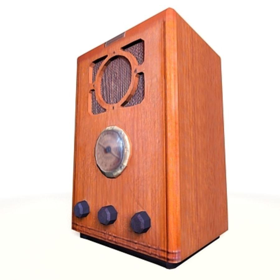 RADIO VIEJA EN TIEMPO REAL royalty-free modelo 3d - Preview no. 13