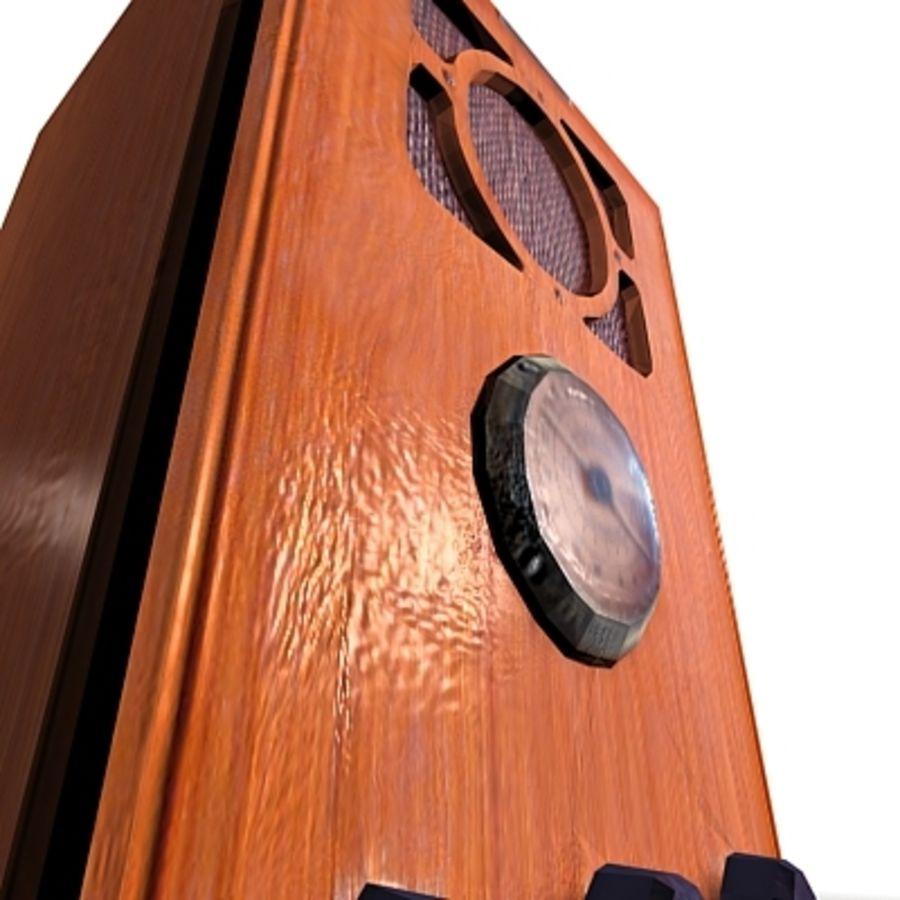 RADIO VIEJA EN TIEMPO REAL royalty-free modelo 3d - Preview no. 16