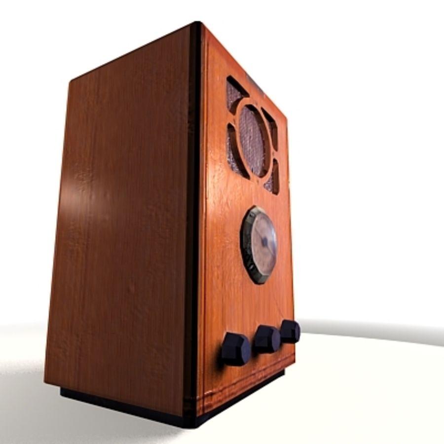 RADIO VIEJA EN TIEMPO REAL royalty-free modelo 3d - Preview no. 12