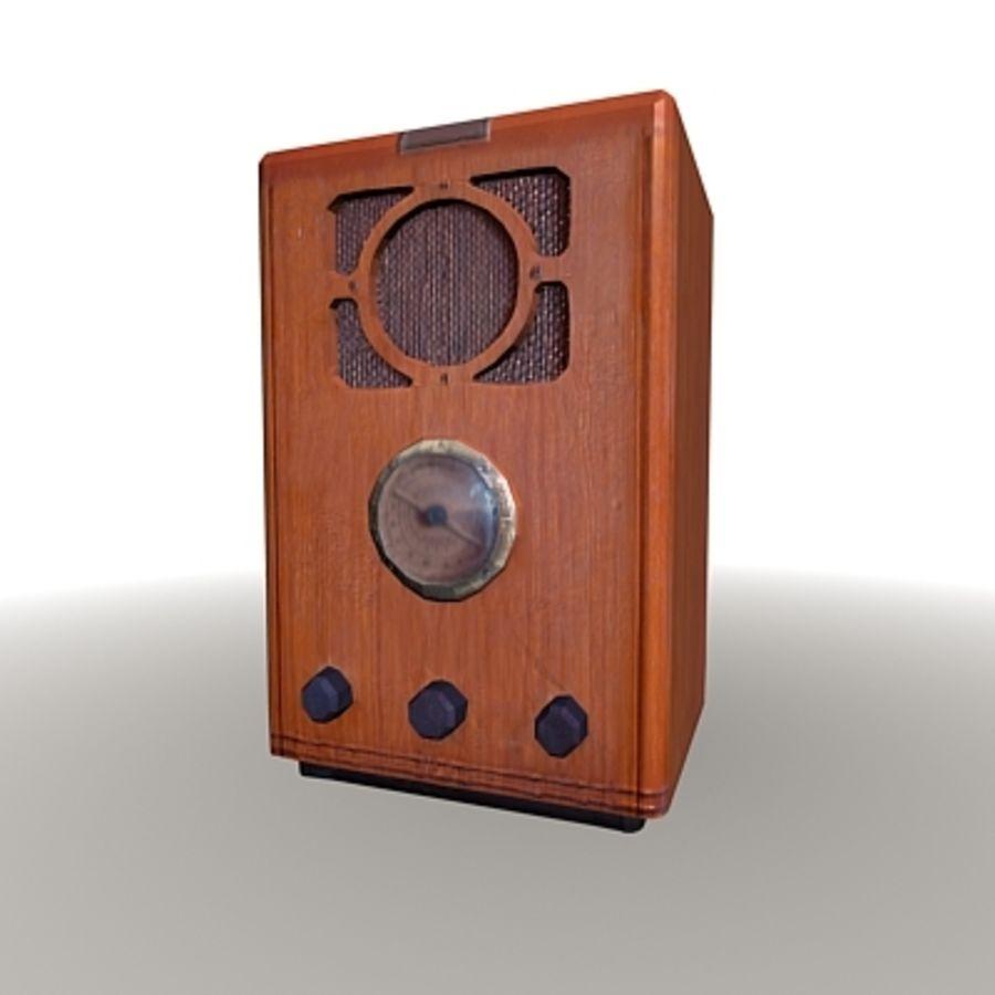RADIO VIEJA EN TIEMPO REAL royalty-free modelo 3d - Preview no. 5