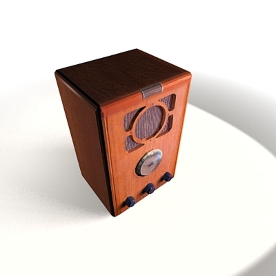 RADIO VIEJA EN TIEMPO REAL royalty-free modelo 3d - Preview no. 17