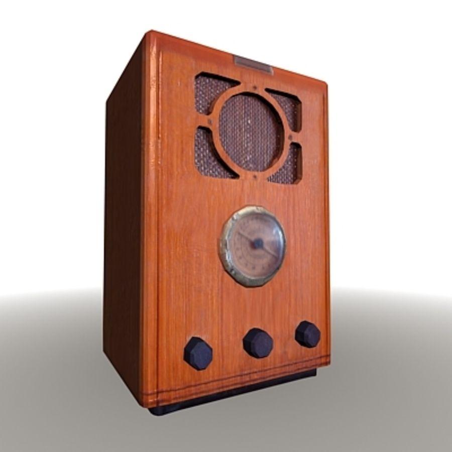 RADIO VIEJA EN TIEMPO REAL royalty-free modelo 3d - Preview no. 1