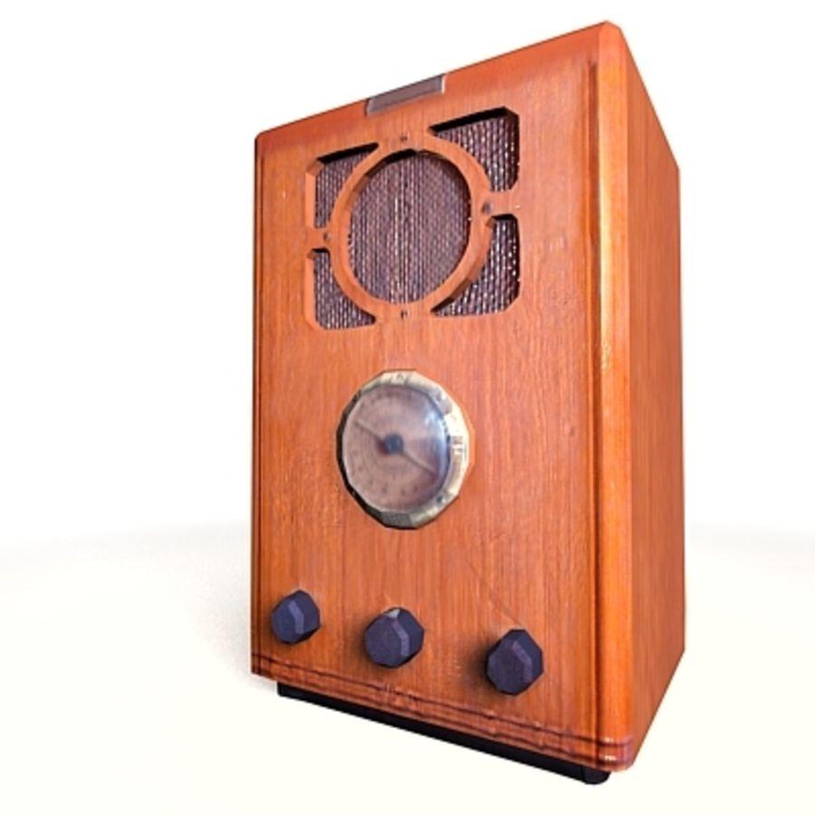 RADIO VIEJA EN TIEMPO REAL royalty-free modelo 3d - Preview no. 2