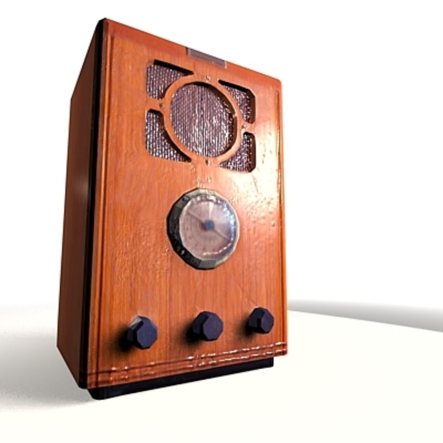RADIO VIEJA EN TIEMPO REAL royalty-free modelo 3d - Preview no. 11