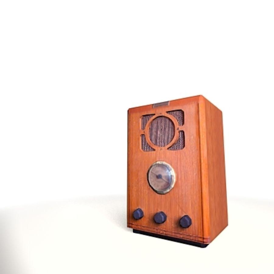 RADIO VIEJA EN TIEMPO REAL royalty-free modelo 3d - Preview no. 3