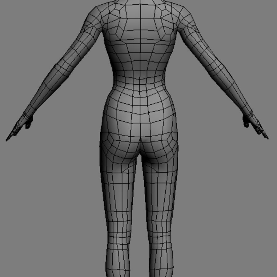 FemaleBaseMesh.max royalty-free 3d model - Preview no. 3