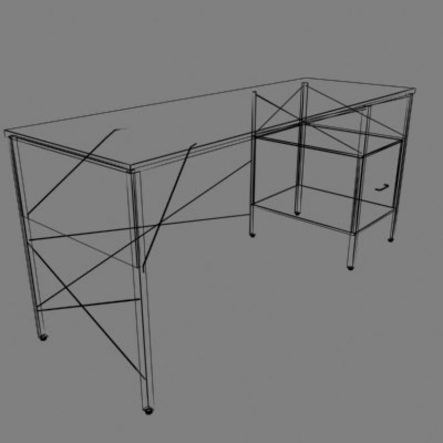 Eames Desk royalty-free modelo 3d - Preview no. 2