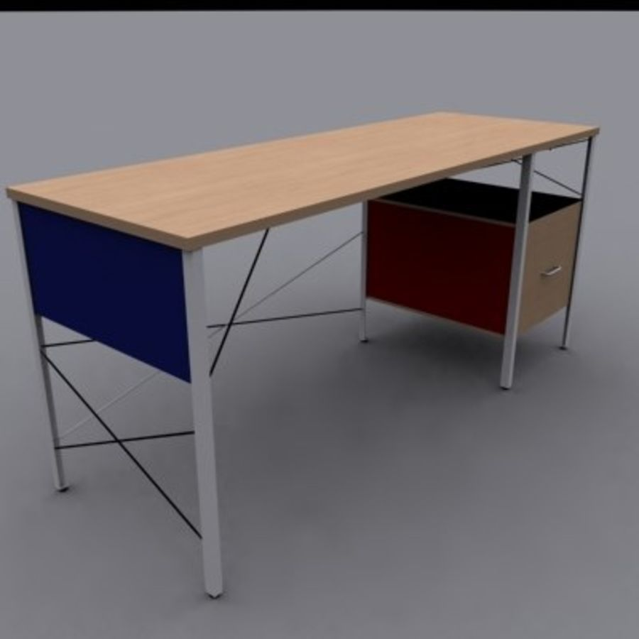 Eames Desk royalty-free modelo 3d - Preview no. 1